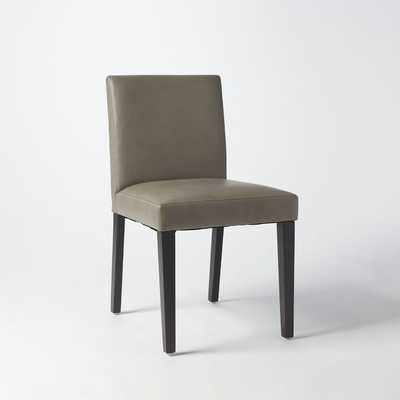 Porter Leather Side Chair - Set of 2 - Elephant Gray - West Elm
