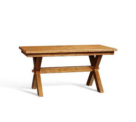 "Toscana Extending Dining Table - 74 x 40"" - Vintage Spruce Finish - Pottery Barn"