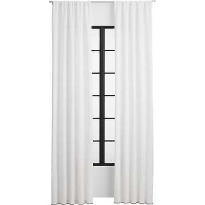 "Gridlock curtain panel 48""x96"" - CB2"