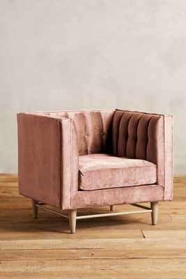Slub Velvet Marryn Chair - Rosewood - Anthropologie