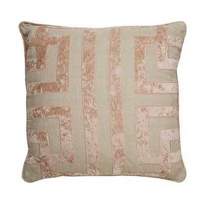 Mazey Pillow- 22'' x 22'-Blush/Sand-Down insert included - Ballard Designs