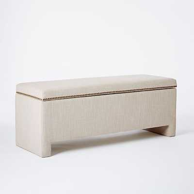Nailhead Upholstered Storage Bench - West Elm