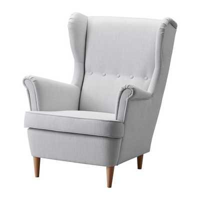 STRANDMON Wing chair - Nordvalla light gray - Ikea
