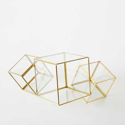 Cube Terrarium - Gold - West Elm