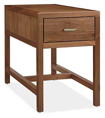 Berkeley End Table-Walnut-Brushed Nickel - Room & Board