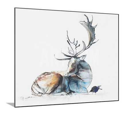 BUCK AND BIRD - 40x30 - Wood Mount - art.com