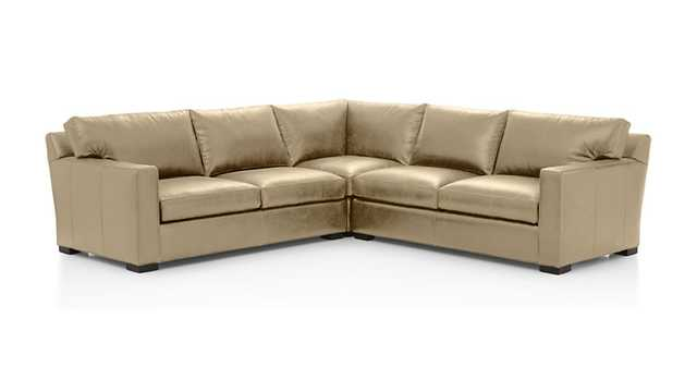 Axis II 3-Piece Sectional Sofa - Mushroom - Crate and Barrel