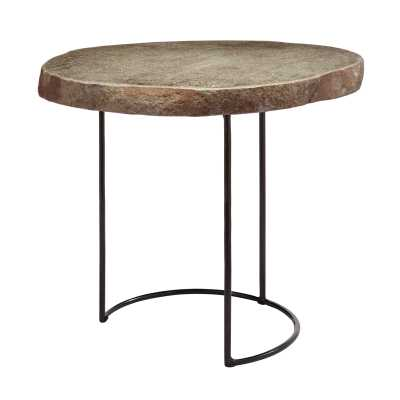 Stone Slab and Wire Frame Table - Rosen Studio
