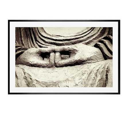 """Meditation Framed Print by Lupen Grainne-42"""" x 28""""-Black Wood Gallery Frame-Mat - Pottery Barn"""