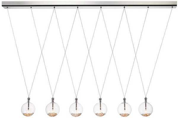 "Possini Euro Ziva 52"" Wide Amber Crystal Chandelier Fixture - Lamps Plus"