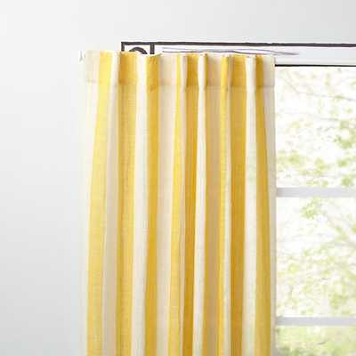 """84"""" Yellow Line Up Curtain - Land of Nod"""