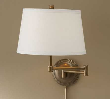 CHELSEA SWING-ARM Sconce Base with Shade Set of 2 - Pottery Barn