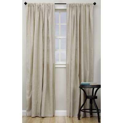 "Classic Linen Blend Curtain Panel - 96"" - Overstock"