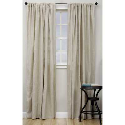 "Classic Linen Blend Curtain Panel - 108""L - Overstock"