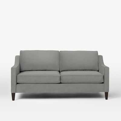 "Paidge 72.5"" Sofa - Heathered Crosshatch, Feather Gray - West Elm"