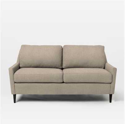 Everett Upholstered Sofa - 60'', Linen Weave, Natural - West Elm