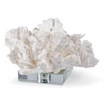 WHITE FLOWER CORAL ON CRYSTAL BASE - Regina Andrew