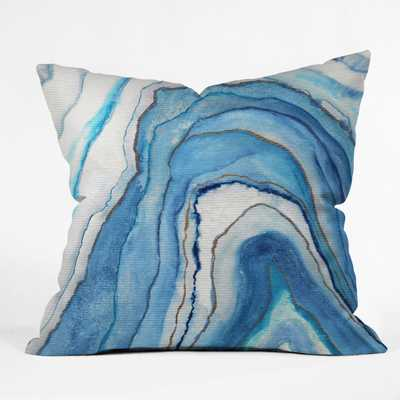 """AGATE INSPIRED WATERCOLOR ABSTRACT 02 - 18""""x18"""" - With Insert - Wander Print Co."""