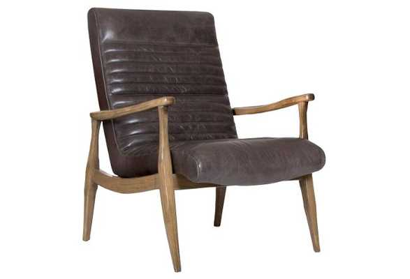 Erik Panel Chair, Wolf-Gray Leather - One Kings Lane