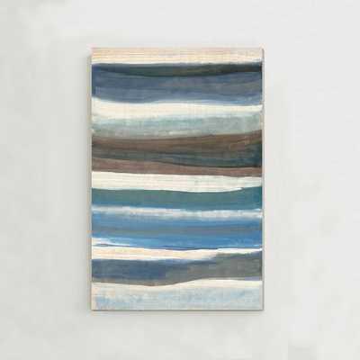 "Oversized Abstract Waves Wall Art - 54""x80"" - Unframed - West Elm"