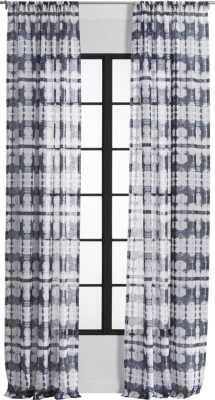 "Tie-dye pocket curtain panel 48""x120"" - CB2"