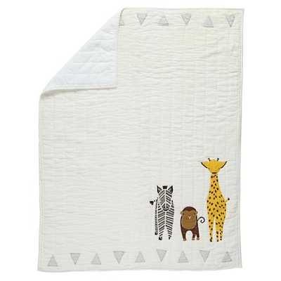Savanna Animal Baby Quilt - Land of Nod