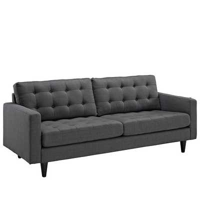 EMPRESS UPHOLSTERED SOFA IN GRAY - Modway Furniture