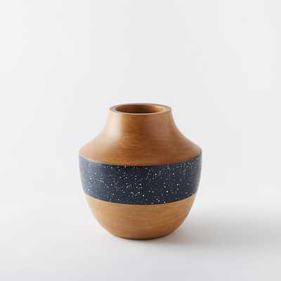 """Speckled Wood Vases - Short (6"""") - West Elm"""
