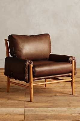 Leather Rhys Chair - Chocolate - Anthropologie