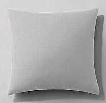"""Belgian Linen Knife-Edge Pillow Cover 22"""" sq Mist - RH"""