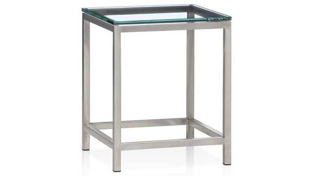 Era Glass Side Table - Crate and Barrel