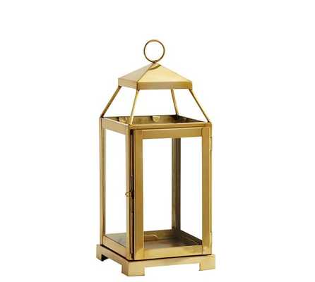 Malta Brass Lantern - Medium - Pottery Barn