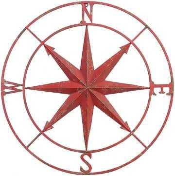 Compass Rose Metal Wall Plaque - Home Decorators