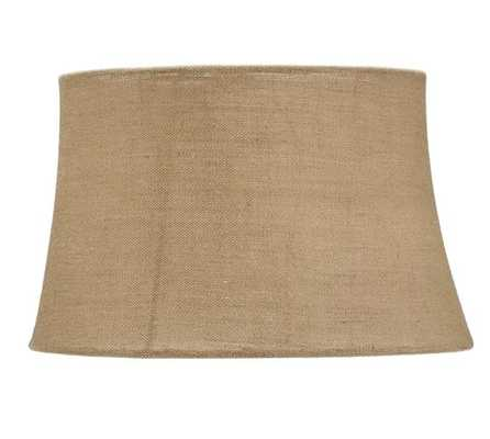 BURLAP UPHOLSTERED TAPERED DRUM LAMP SHADE - Natural- Large - Pottery Barn