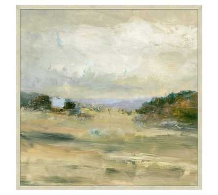 "View of the Valley Framed Canvas- 30"" x 30"" - Antique Silver Frame without mat - Pottery Barn"