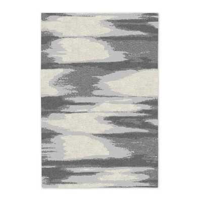Faded Ikat Wool Rug - Slate - 6' x 9' - West Elm