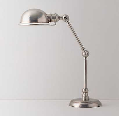 ACADEMY TASK TABLE LAMP - ANTIQUE PEWTER - RH Teen