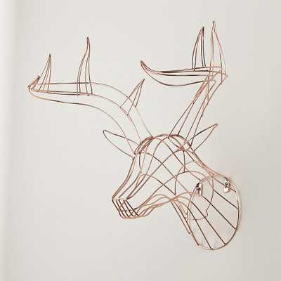 Rudy the wall hanging copper deer - CB2
