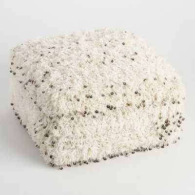 Oversized Moroccan Wool Pouf - World Market/Cost Plus
