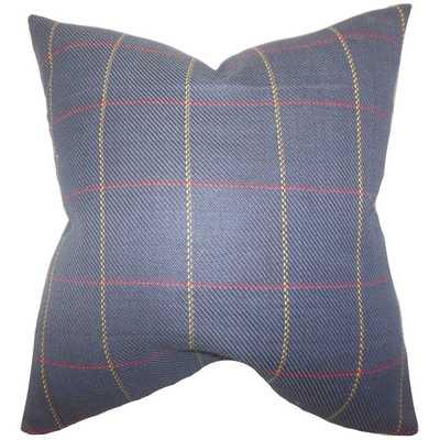 """Maillol Plaid Pillow Blue - 20"""" x 20"""" - Polyester insert - Linen & Seam"""