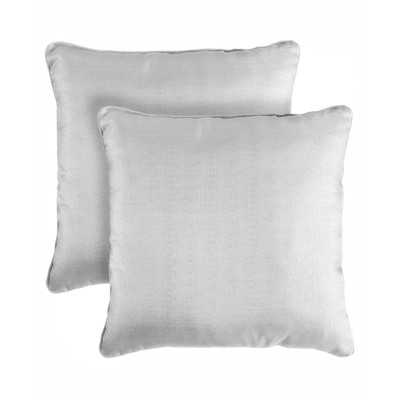 Bling Shimmering Throw Pillow - Gray, 18x18 With insert - Set of 2 - Wayfair