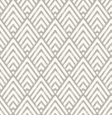 Vertex Charcoal Diamond Geometric Wallpaper - Burke Decor