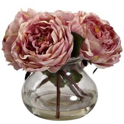 Fancy Rose in Vase - Wayfair