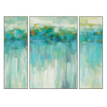 "Beach Lights - Set of 3 - 40"" x 30"", Unframed - Z Gallerie"