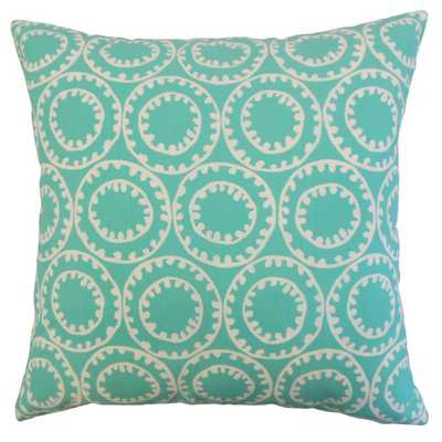 Abdiel Outdoor Pillow Turquoise - 18x18 With insert - Linen & Seam