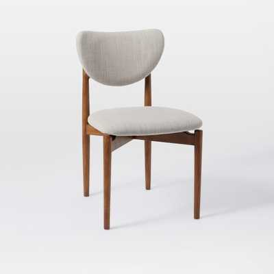 Dane Dining Chair - Individual - Platinum - Linen Weave - West Elm