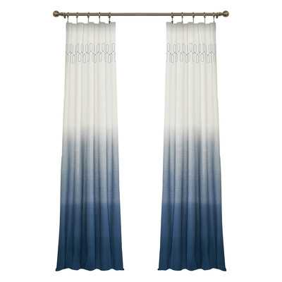 "Arashi Single Curtain Panel - Indigo, 95"" L - Wayfair"
