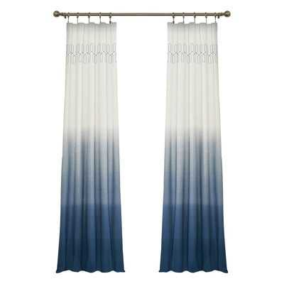 "Arashi Single Curtain Panel - Indigo, 84"" - Wayfair"