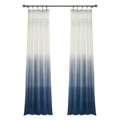 "Arashi Single Curtain Panel - Indigo - 63"" - Wayfair"