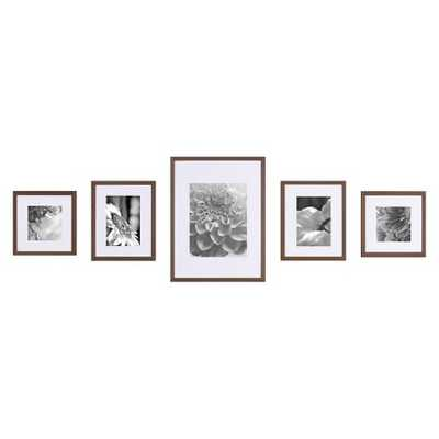 Gallery Perfect Wall Kit 5 Piece-Walnut - Target